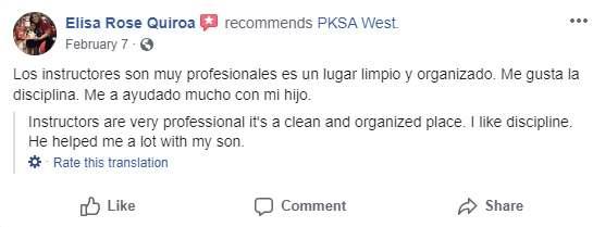 Pksatest3, Vitali Family Karate