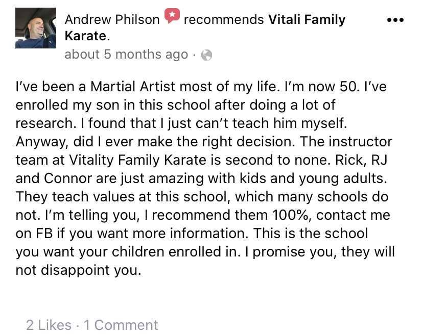 Kids 5, Vitali Family Karate